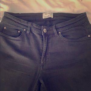 ACNE SKIN 5 black skinny jeans